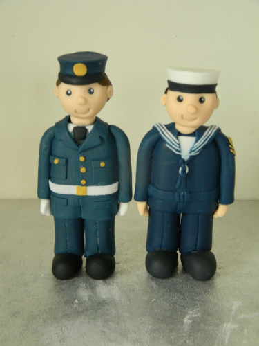 Navy & RAF Theme Cake Toppers